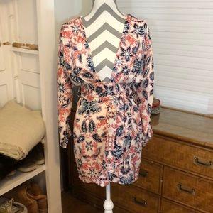 TALULAH Dresses - Talulah isla paisley red white and blue dress
